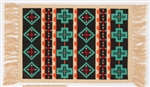 Placemat, Black w/Turquoise Crosses