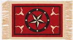 Placemat, Red Longhorn & Star