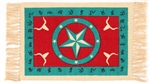 Placemat, Turquoise/Red Longhorn & Star