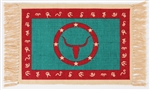 Placemat, Turquoise/Red Longhorn