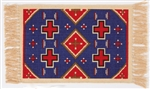 Placemat, Blue w/Red Crosses