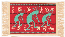 Placemat, Kokopelli Red & Turquoise