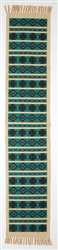 Table Runner, Turquoise w/Crosses