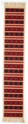 Table Runner, Red w/Crosses