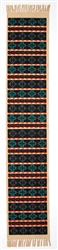 Table Runner, Black/Turquoise Crosses