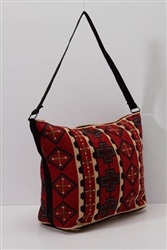 Tote Bag, Red w/Crosses