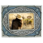 Photo Frame, Turquoise Silver