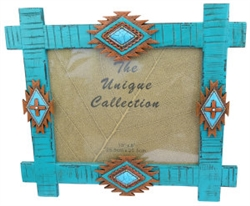 Photo Frame, Southwest Turquoise