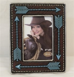 Photo Frame, Brown Arrow