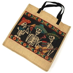 Bag, Day of the Dead Jute