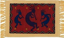 Placemat, Colorful Kokopelli