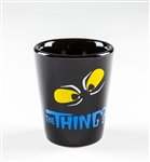Shot Glass, The Thing Black w/Yellow Eyes (1.5oz)